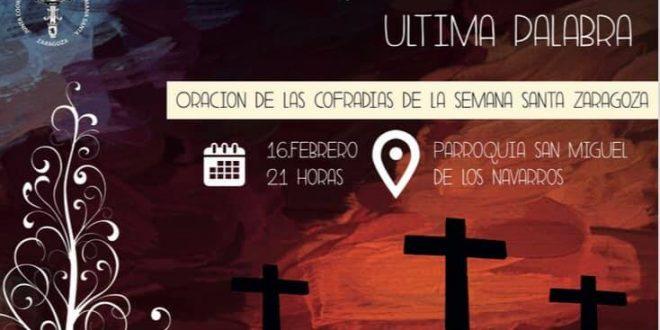Acto de oración envío Semana Santa Zaragoza 2019