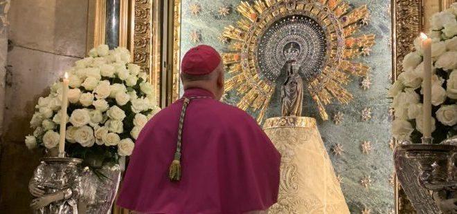 El arzobispo de Zaragoza realizará una misa online desde el Pilar