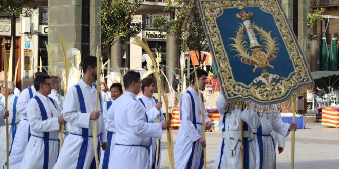 Actos de la cofradía de La Entrada en la Semana Santa de Zaragoza 2021